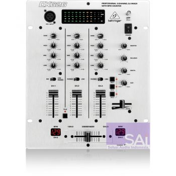 Behringer DX626 3-Channel Pro DJ Mixer