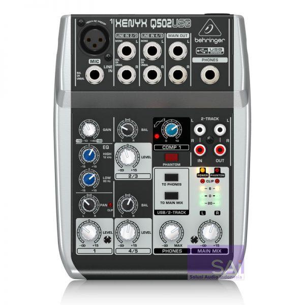 Behringer Q502 USB Analog Mixer