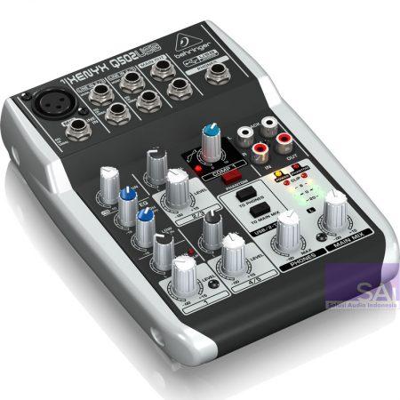Behringer Q502USB Analog Mixer Side