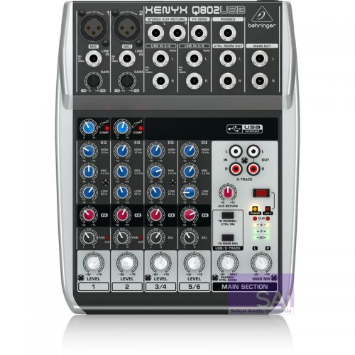 Behringer Xenyx Q802 USB 6-Channel Analog Mixer