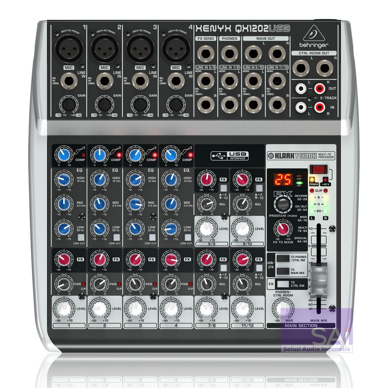 Behringer Xenyx Q1202 USB 12-Channel Analog Mixer