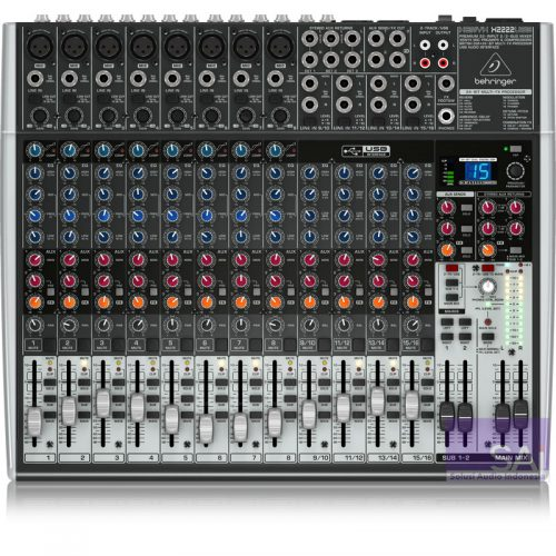 Behringer Xenyx X2222 USB 22-Channel Analog Mixer