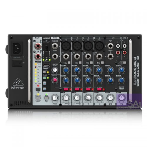 Behringer Europower PMP500MP3 8-Channel Powered Analog Mixer