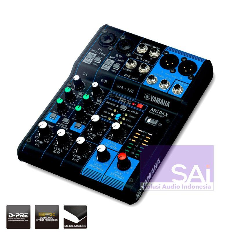 Yamaha MG06X 6-Channel Analog Mixer