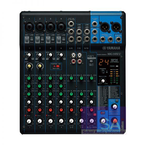 Yamaha MG-10XU 10 Channel Analog Mixer Front