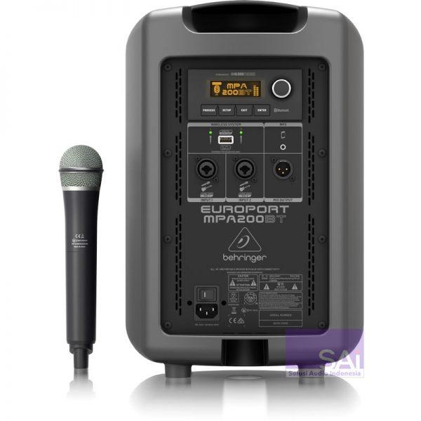 Behringer MPA200BT Speaker Portable Rear