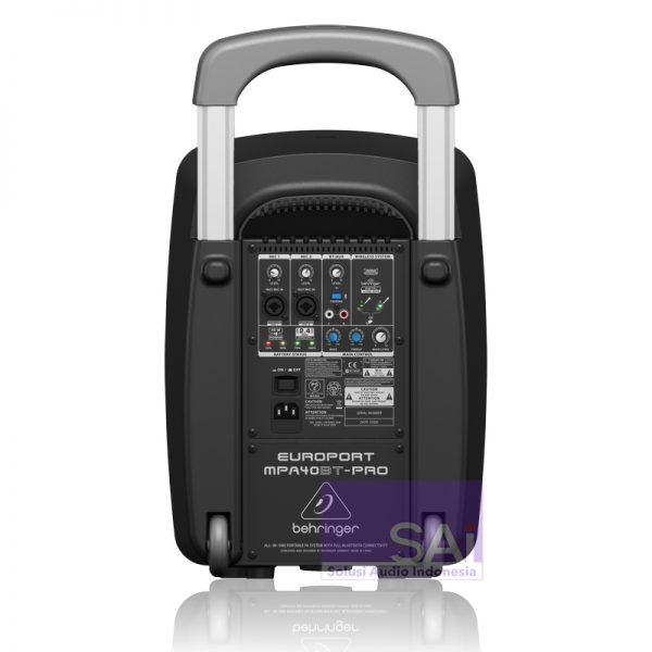 Portable Speaker Behringer MPA 40 BT PRO Rear