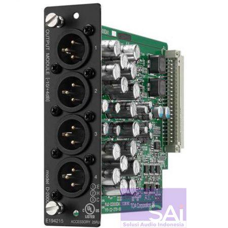 TOA D-2000DA1 Audio Processor