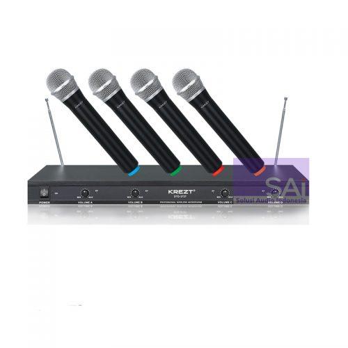 KREZT DTD-3737 4 Channel Wireless Microphone