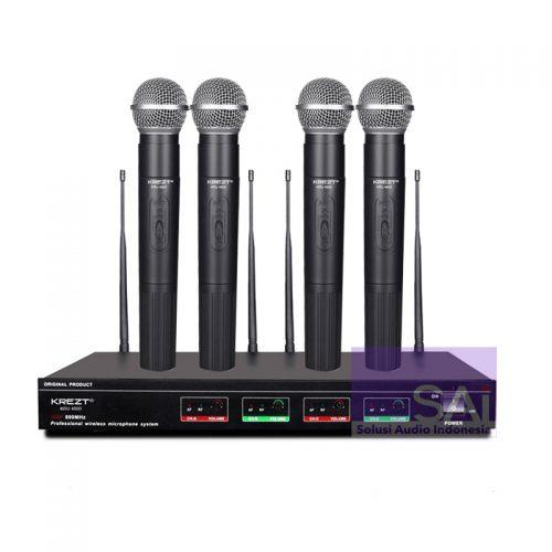 KREZT EU-4800 4 Channel Wireless Microphone