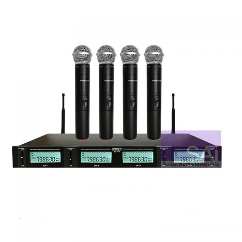 KREZT EU-4808 4 Channel Wireless Microphone