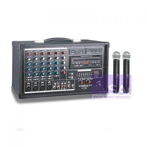 KREZT KA-200 Power Mixer With Microphone