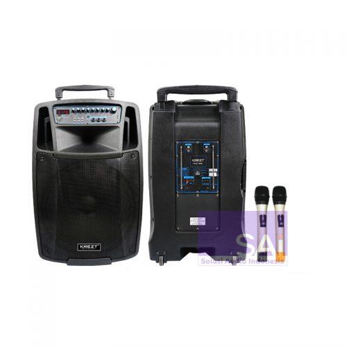 KREZT WAS-115B Portable Wireless 15-Inch (2 Mic Handheld)