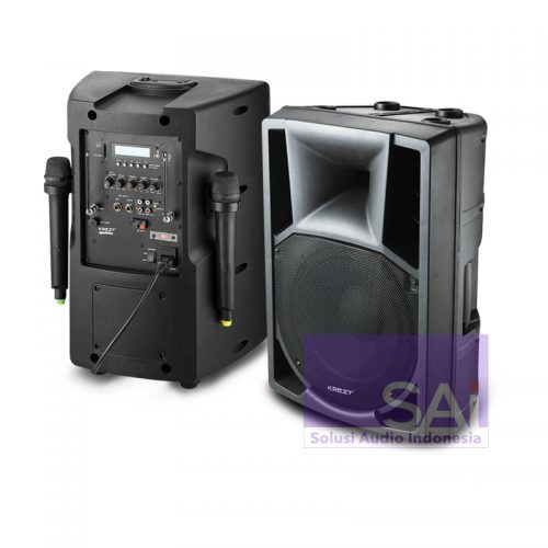 KREZT WAS-8210B Portable Wireless 10-Inch (2 Mic Handheld)