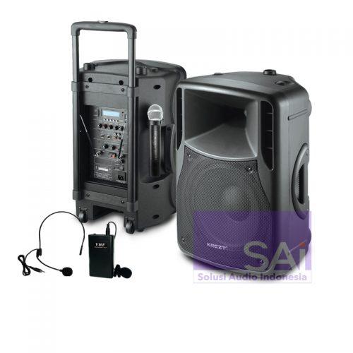 KREZT WAS-8712B Portable Wireless 12-Inch (2 Mic Wireless)
