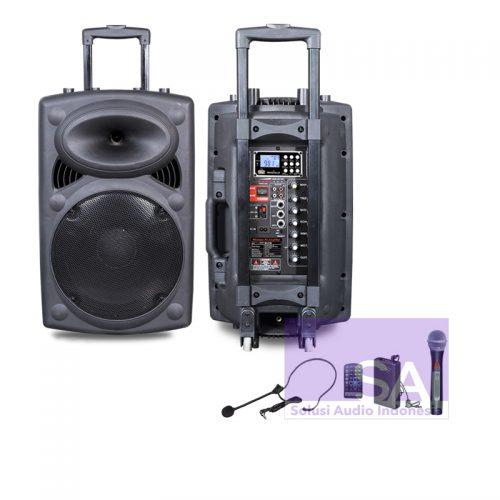 KREZT WAS-8730 Portable Wireless 12-Inch (3 Mic Wireless)