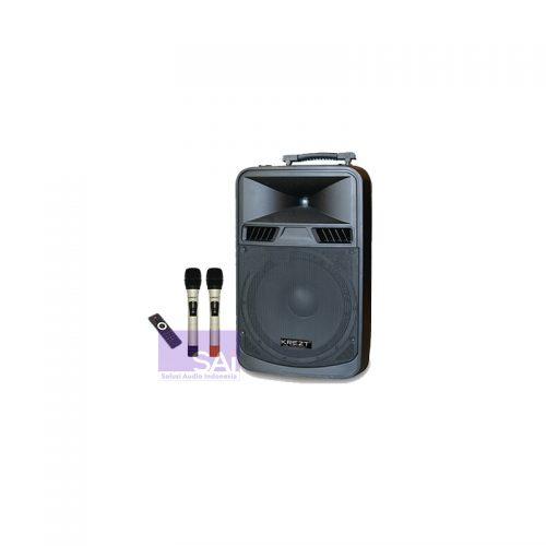 KREZT WAS-8415 Portable Wireless 15-Inch (2 Mic Handheld)