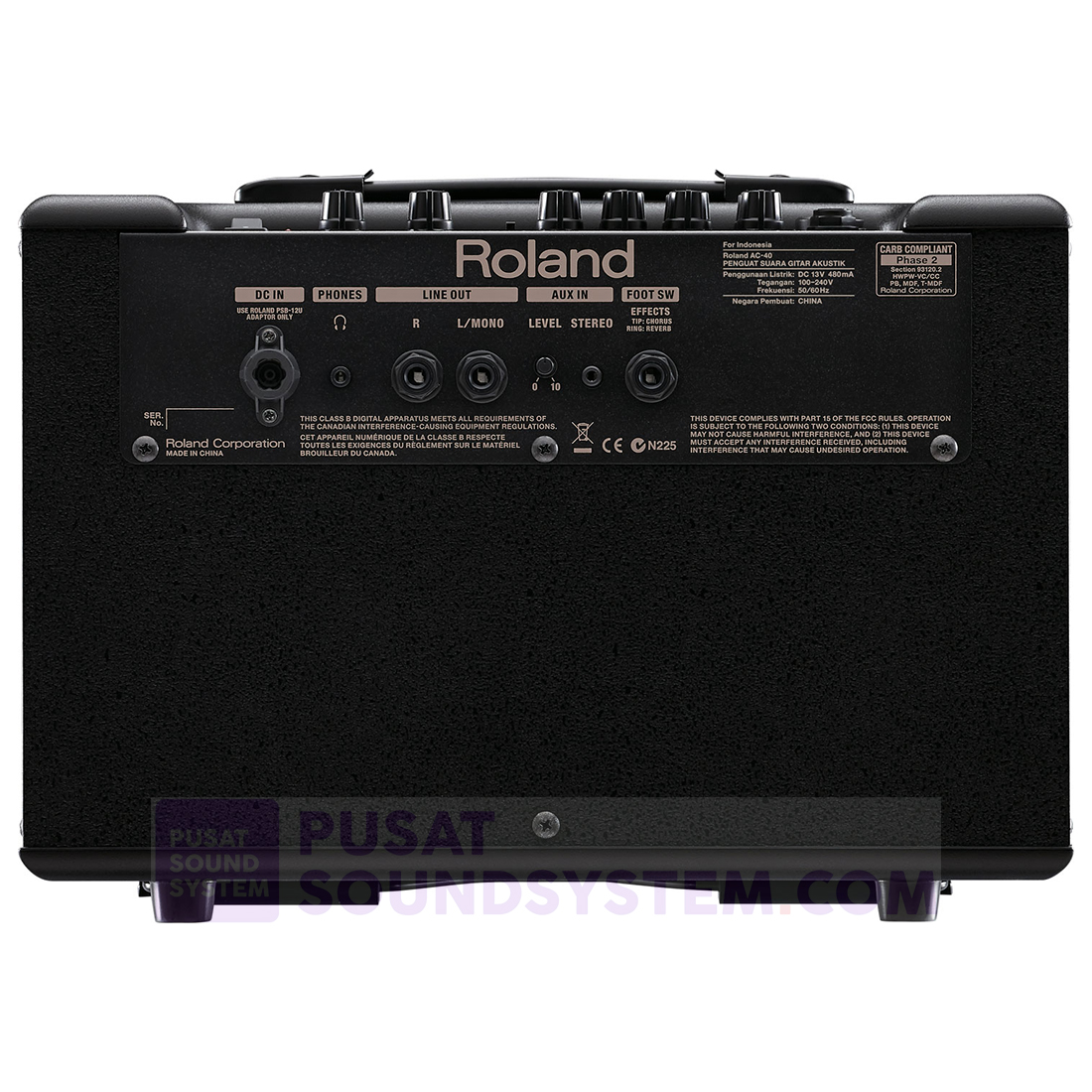 Jual Roland Ac 40 Ampli Gitar Acoustic Chorus 2x6 5 Quot 6 5