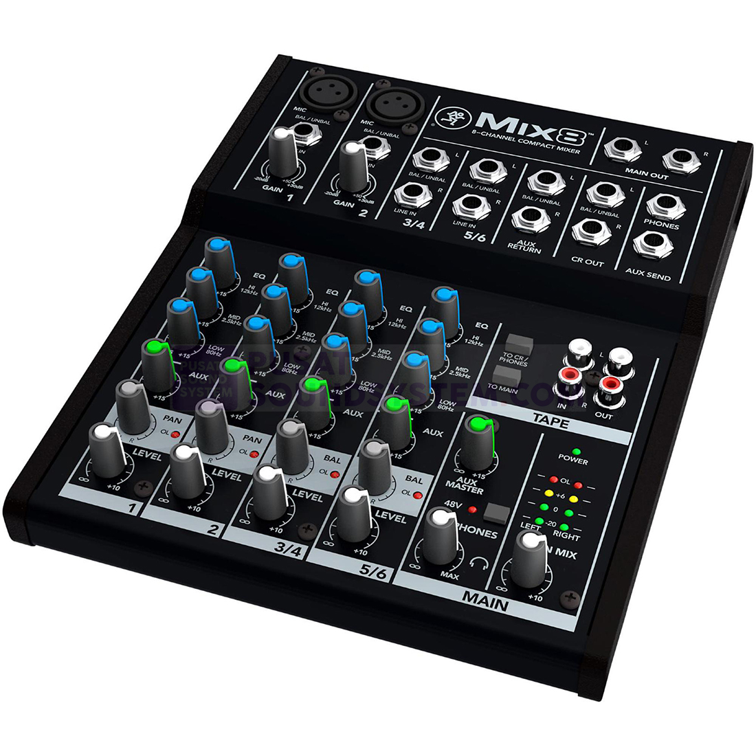 Mackie Mix8 Mixer Analog 8 Channel