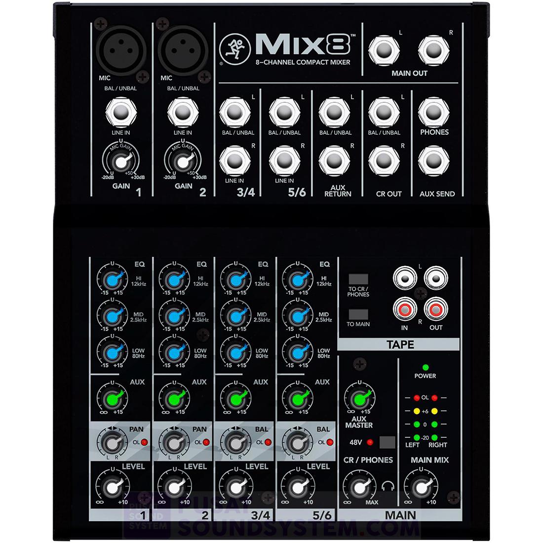 Mackie Mix12FX Mixer Analog 12 Channel