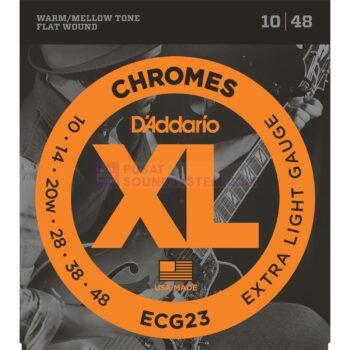 Daddario ECG23 Chrome Flat Wound Electric Guitar Strings