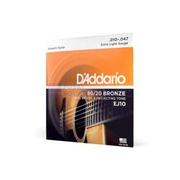 Daddario EJ10 Senar Gitar Bronze Acoustic Guitar Strings
