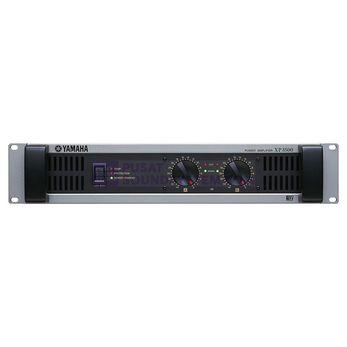 jual yamaha xp3500 2 channel 350w professional power amplifier. Black Bedroom Furniture Sets. Home Design Ideas