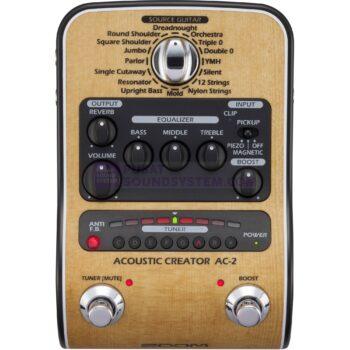 Zoom AC-2 Acoustic Creator Pedal Switch Efek Gitar