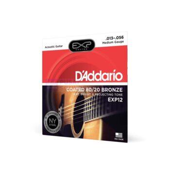 Daddario EXP12 Acoustic Guitar String Coated 80/20 Bronze