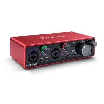 Focusrite Scarlett 2i2 2×2 USB Audio Interface (3rd Gen...
